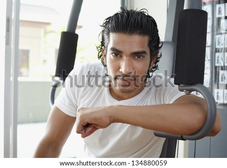 Portrait active asian handsome man in athletic