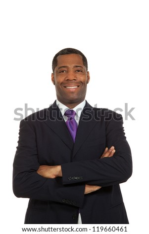 Portrait african man on white background - stock photo