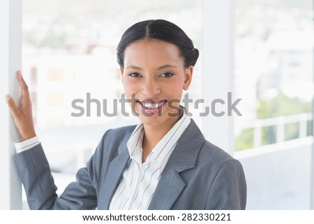 Portrait beautiful young businesswoman in office