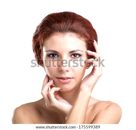 Portrait Beauty Young Woman.Skin Face Care.Youth and Health Concept