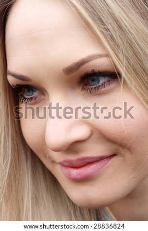 portrait blonde girl