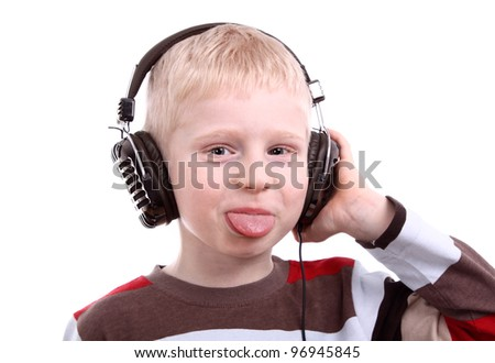 portrait boy with headphones