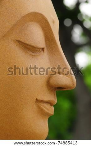 portrait buddha - stock photo