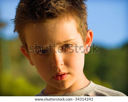 portrait, child - stock photo