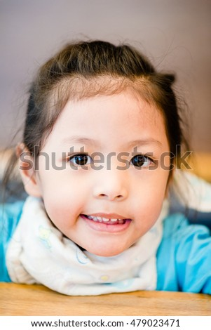 PORTRAIT : close up of cute asian girl