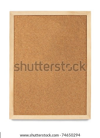 Portrait Cork Board, blank and isolated - stock photo