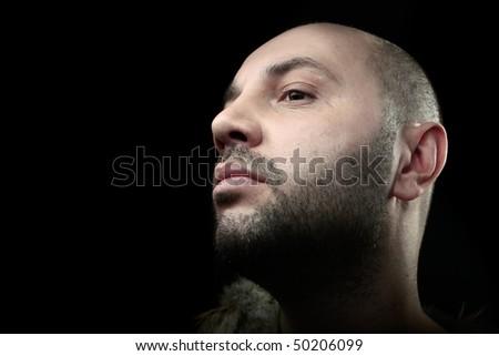 portrait fashion men - stock photo