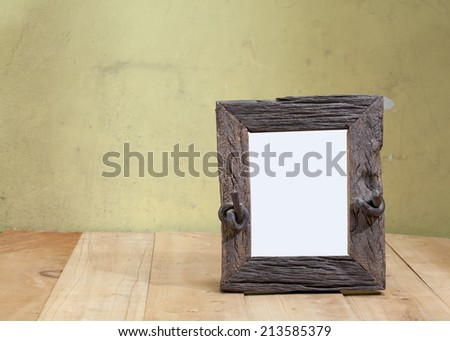 portrait frame on the table - stock photo