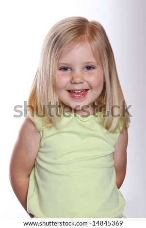 portrait girl child smile - stock photo