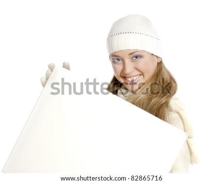 Portrait happy girl - stock photo