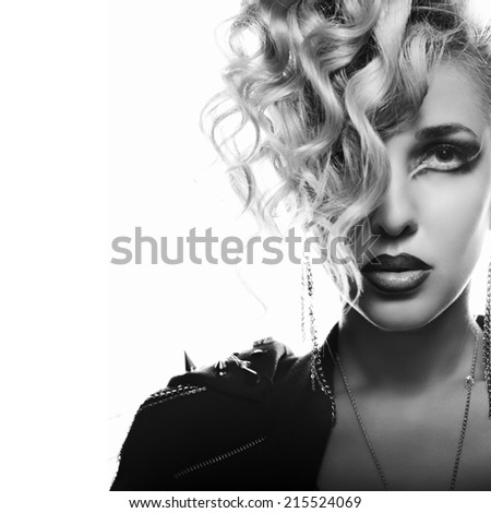 portrait in rock style - stock photo