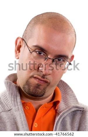 Portrait man with eyeglassess - stock photo
