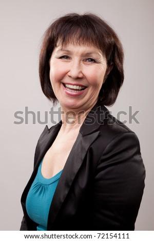 Portrait mature woman - stock photo