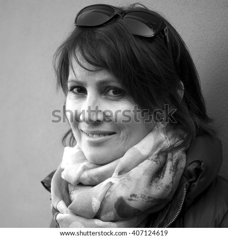 Portrait mid-adult Caucasian woman - stock photo