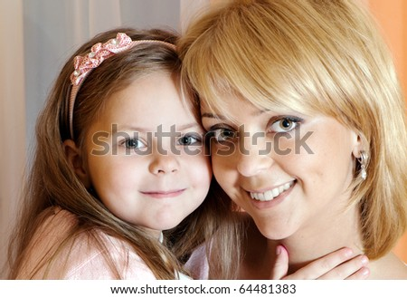 Portrait mother with daughter
