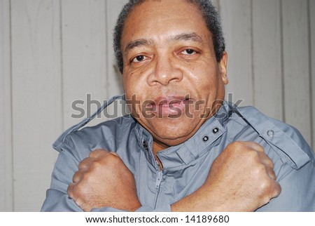 Portrait of a african american male. - stock photo
