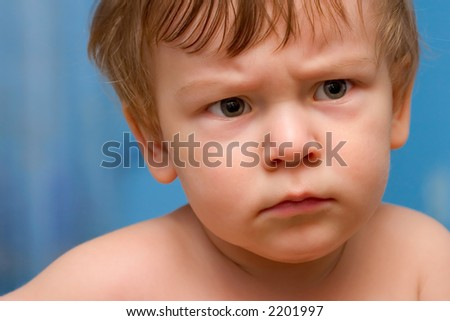Portrait of a Baby Boy on color background