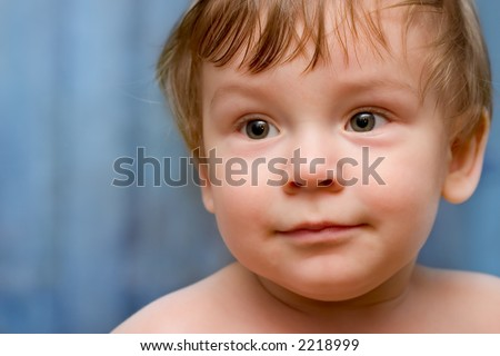Portrait of a Baby Boy on white background