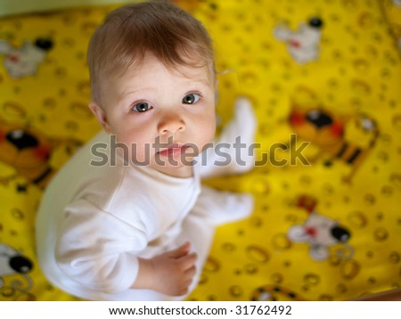 Portrait of a baby - shallow DOF - stock photo
