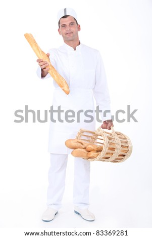 portrait of a baker - stock photo