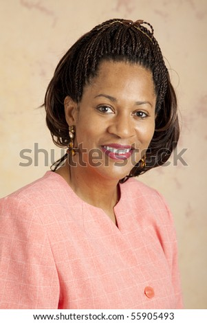 Portrait of a beautiful, african-american businesswoman. - stock photo