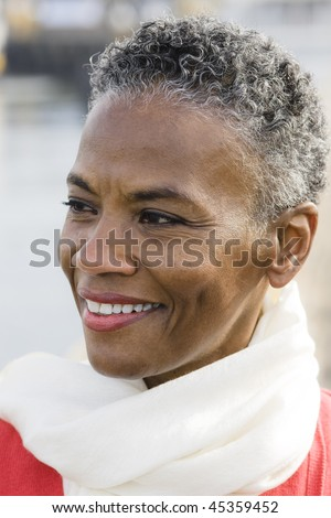 Portrait of a Beautiful African American Woman - stock photo