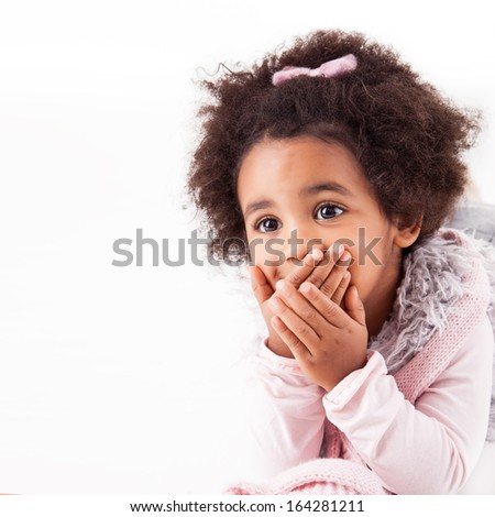 Portrait of a beautiful african descent child - stock photo