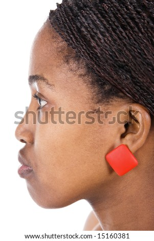 Portrait of a beautiful African girl with braids - stock photo