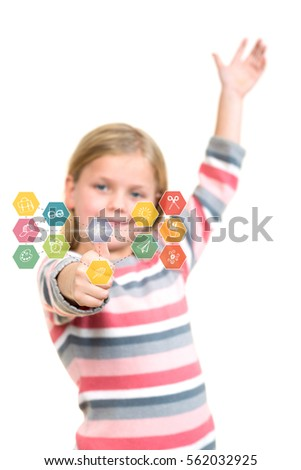 Portrait of a beautiful and confident girl showing thumbs up