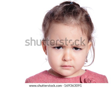portrait of a beautiful angry girl - stock photo