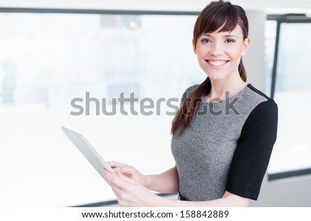 Portrait of a beautiful business woman - stock photo