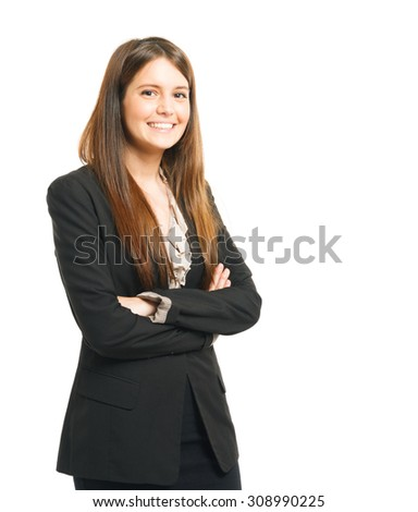 Portrait of a beautiful businesswoman - stock photo