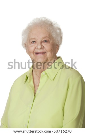 Portrait of a beautiful Caucasian woman on a white background