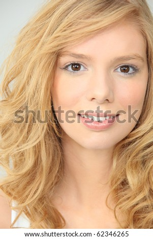 Portrait of a beautiful fair-haired woman