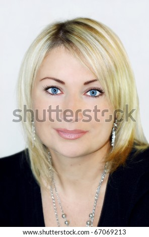Portrait of a beautiful female - stock photo