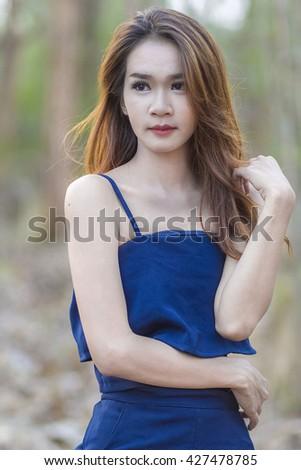 Portrait of a beautiful girl.   - stock photo