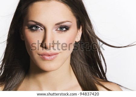 Portrait of a beautiful girl - stock photo