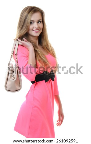 Portrait of a beautiful girl in  summer dress - stock photo