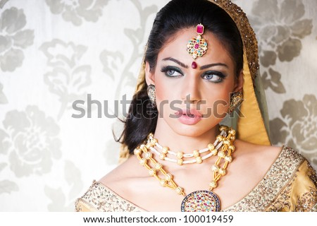 portrait of a beautiful Indian bride