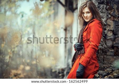 Portrait of a beautiful lady - stock photo