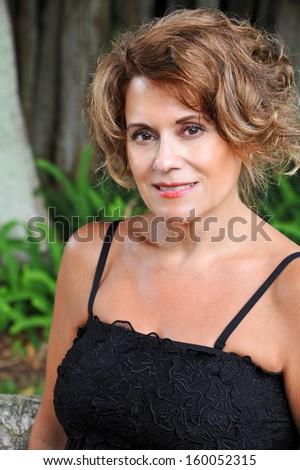 Portrait of a Beautiful Mature Woman  - stock photo