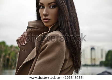Portrait of a beautiful model - stock photo