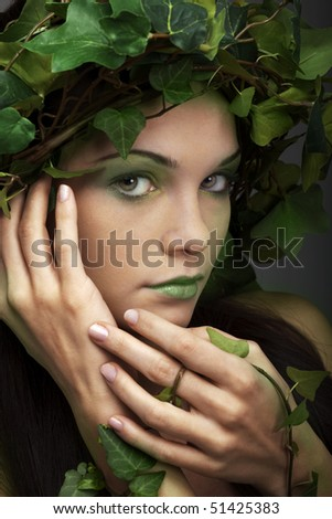 Portrait of a beautiful mother nature - stock photo