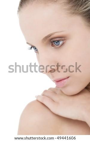 Portrait of a beautiful natural beauty - stock photo