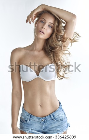 Portrait of a beautiful natural blonde woman