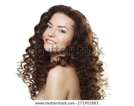 Portrait of a beautiful red haired girl - stock photo
