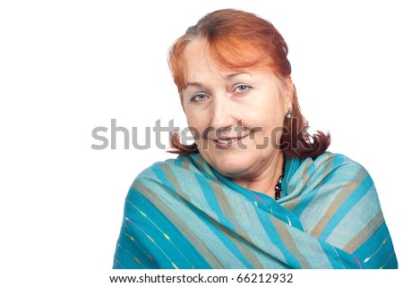 Portrait of a beautiful senior woman. - stock photo