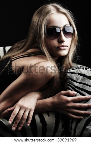 Portrait of a beautiful sexual female model. Beauty, fashion. - stock photo