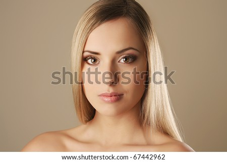 Portrait of a beautiful sexy female girl - stock photo