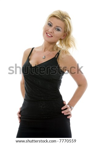 portrait of a beautiful sexy girl on isolated background